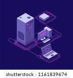 computer synchronization  data...   Shutterstock .eps vector #1161839674