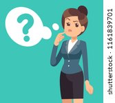 confused businesswoman.... | Shutterstock .eps vector #1161839701
