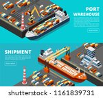 sea transportation horizontal... | Shutterstock .eps vector #1161839731