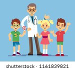 cute male pediatrician doctor... | Shutterstock .eps vector #1161839821