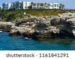 aegean sea and blue sky. coast... | Shutterstock . vector #1161841291