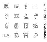 collection of 16 door outline... | Shutterstock .eps vector #1161843274
