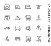 collection of 16 vehicle... | Shutterstock .eps vector #1161843424