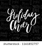 merry christmas card with... | Shutterstock .eps vector #1161852757