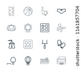 recreation icon. collection of... | Shutterstock .eps vector #1161857704