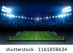 football arena field with... | Shutterstock .eps vector #1161858634