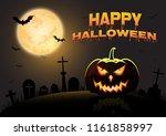 happy halloween poster banner... | Shutterstock .eps vector #1161858997