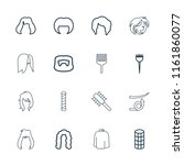 hairstyle icon. collection of... | Shutterstock .eps vector #1161860077