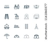 tourist icon. collection of 16... | Shutterstock .eps vector #1161860377