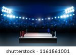 boxing ring arena and... | Shutterstock .eps vector #1161861001