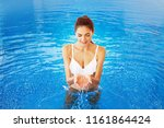 beautiful caucasian woman... | Shutterstock . vector #1161864424