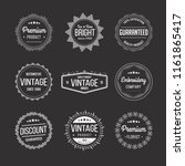 vector set of vintage retro... | Shutterstock .eps vector #1161865417
