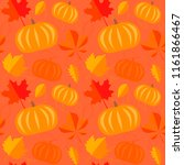 autumn seamless pattern  fall... | Shutterstock .eps vector #1161866467