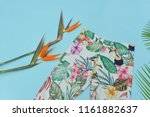 summer pants with floral... | Shutterstock . vector #1161882637
