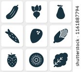 vegetable icons set with... | Shutterstock .eps vector #1161887794