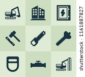 industrial icons set with...   Shutterstock .eps vector #1161887827