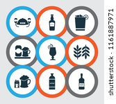 alcohol icons set with scotch ... | Shutterstock .eps vector #1161887971