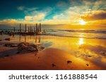 port willunga beach view with... | Shutterstock . vector #1161888544