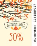 vector banner with words autumn ... | Shutterstock .eps vector #1161889117