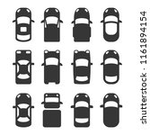 car top view icons set on white ... | Shutterstock .eps vector #1161894154