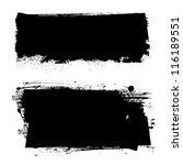 black grunge banners. vector... | Shutterstock .eps vector #116189551