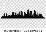silhouette of city with black... | Shutterstock .eps vector #1161896971