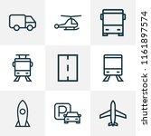 transport icons line style set... | Shutterstock .eps vector #1161897574