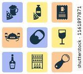 alcohol icons set with opener ... | Shutterstock .eps vector #1161897871