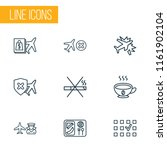 traveling icons line style set... | Shutterstock . vector #1161902104