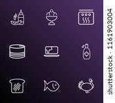 food icons line style set with... | Shutterstock . vector #1161903004