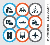 transportation icons set with... | Shutterstock .eps vector #1161906544