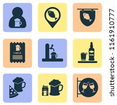 drink icons set with tap  ice... | Shutterstock .eps vector #1161910777