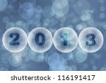new year 2013 greeting card  ... | Shutterstock . vector #116191417