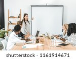 young asian businesswoman... | Shutterstock . vector #1161914671