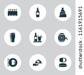 beverages icons set with elite... | Shutterstock .eps vector #1161915691
