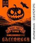 halloween party invitation ... | Shutterstock .eps vector #1161929191