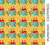 seamless vector ornamental... | Shutterstock .eps vector #1161934621