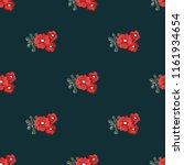 seamless vector ornamental... | Shutterstock .eps vector #1161934654