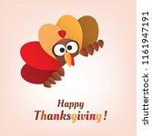 happy thanksgiving card design...   Shutterstock .eps vector #1161947191
