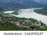 the bend of the danube river.... | Shutterstock . vector #1161950137