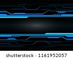 abstract blue light circuit on...   Shutterstock .eps vector #1161952057