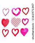 love heart style set | Shutterstock . vector #1161971347
