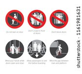 safety signs set for... | Shutterstock .eps vector #1161981631