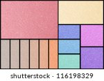 Make Up Palette Of Colorful...