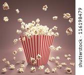 popcorn exploding inside the... | Shutterstock . vector #116198479