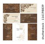 cards design set | Shutterstock .eps vector #116198839