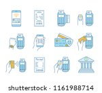 nfc payment color icons set.... | Shutterstock .eps vector #1161988714