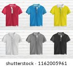 collection of colorful polo t... | Shutterstock . vector #1162005961