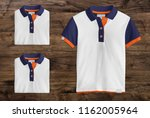polo t shirt mockup  folded and ... | Shutterstock . vector #1162005964