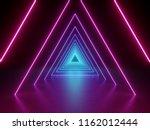 3d render  ultraviolet neon... | Shutterstock . vector #1162012444